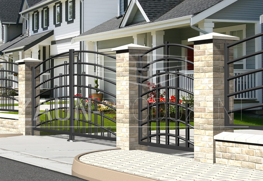 devon metallzaun hersteller torsysteme moderne z une. Black Bedroom Furniture Sets. Home Design Ideas
