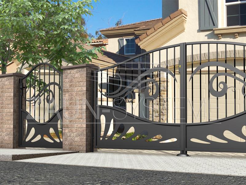 caracas metallzaun hersteller torsysteme moderne z une. Black Bedroom Furniture Sets. Home Design Ideas