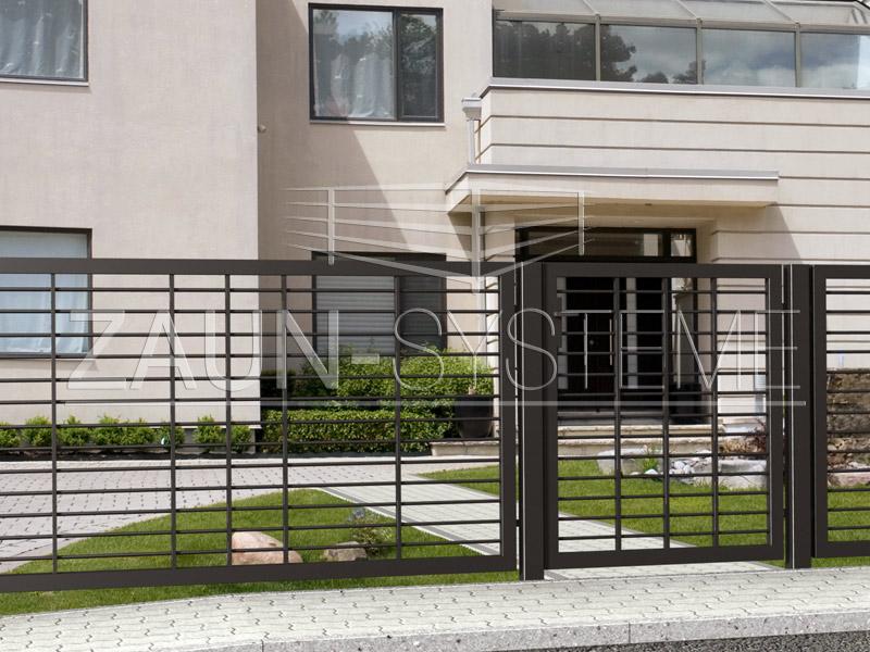porto metallzaun hersteller torsysteme moderne z une. Black Bedroom Furniture Sets. Home Design Ideas